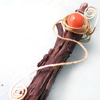 Red Adventurine Wire Wrapped Ring