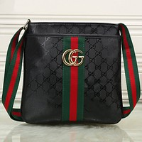 Gucci Men Trending Shopping Leather Tote Crossbody Satchel Shoulder Bag G-KSPJ-BBDL