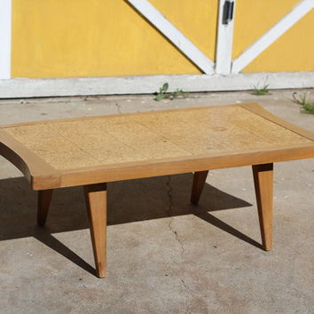 Mid Century Cocktail Coffee Table 1951 | Cork Top