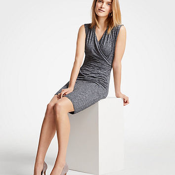 Faux Wrap Knit Dress | Ann Taylor