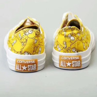 Converse All Star cartoon Canvas shoes yellow H-PSXY
