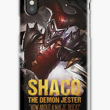 'League of Legends SHACO - The Demon Jester' iPhone Case/Skin by Naumovski
