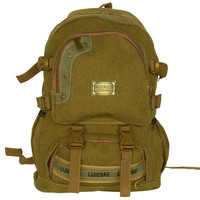 Blancho [Own Propert] Multipurpose canvas Outdoor Backpack /  Dayback / School Bag - Khaki