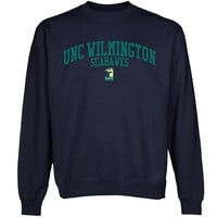 UNC Wilmington Seahawks Team Arch Sweatshirt - Navy Blue
