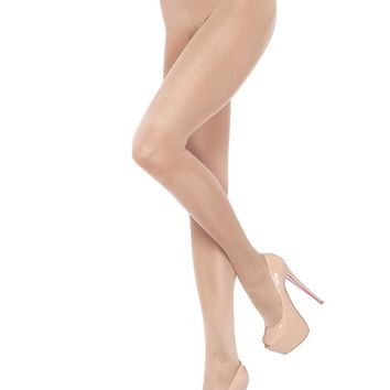 Leg Avenue Female Opaquesheer To Waist Tights With Cotton Crotch 0992