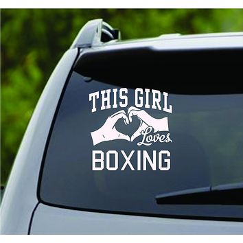 This Girl Loves Boxing Decal Sticker Car Window Truck Laptop