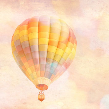 Nursery Photography, Nursery Art, Kids Room, Hot Air Balloon, Playroom, 8x10 OR 11X14 fine art print, Children's Decor, Cheerful, Whimsical
