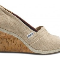 Amery Burlap Women's Wedges