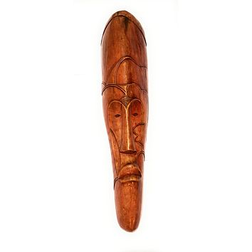 "🎁 ONE DAY SALE 18"" African Gabon Cameroon Wood Fang Mask: Brown"