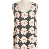 ModCloth Vintage Inspired Mid-length Sleeveless Favorite Daisy of the Week Tank