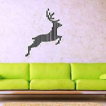 Wall Stickers Vinyl Decal Deer Moose Animal Abstract Style Unique Gift ig1474