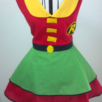 Robin Inspired Vintage Style Apron MTO