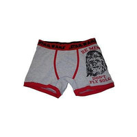 "Men's Chewbacca ""Be Mine..."" Graphic Boxer Briefs, Small, Grey Star Wars"