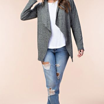 Moss Green French Terry Sweater Jacket