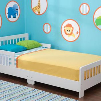 Slatted White Toddler Bed