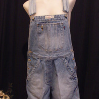 90s Denim Blue Jean Bibbed Overalls Shorts