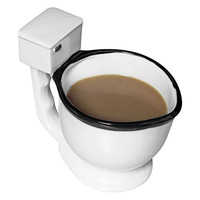 Evelots The Toilet Mug, Coffee, Tea, Beverages Cup, Humorous Gifts,Office & Home