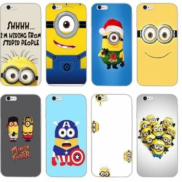 cute Minions silicone TPU Soft phone case For LG G2 G3 mini spirit G4 G5 G6 K4 K7 K8 K10 2017 V10 V20