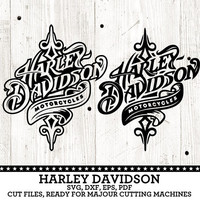Harley Davidson Motorcycles Logos. Individual SVG, DXF Vector Digital Cut Files, eps, pdf. Silhouette, Cricut, yeti vinyl Die Cutting SF-182