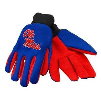 Ole Miss Rebels - Adult Two-Tone Sport Utility Gloves