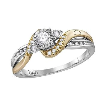 14kt White Two-tone Gold Women's Round Diamond Solitaire Bridal Wedding Engagement Ring 1/4 Cttw - FREE Shipping (US/CAN)