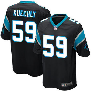 2016 Youth Carolina panthers, 59# Luke Kuechly,1# Cam Newton, black white blue Kids 100% stitched Logo and name, free shipping