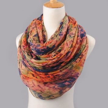 Fashionable Autumn Colored Scarf