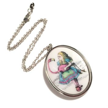 Flamingo Pendant Necklace – TARINA TARANTINO