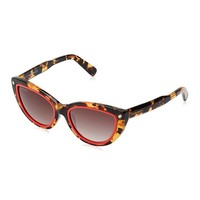 Women's Tortoise with Red Trim Dsquared2 Cat Eye Sunglasses