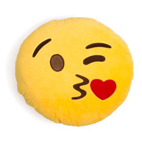 Blowing Kisses Emoji Pillow