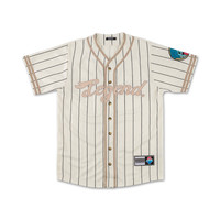Legend Baseball Jersey in Off White – Pink+Dolphin
