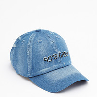 Distressed Denim 90's Baby Baseball hat
