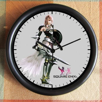 Final Fantasy XIII-2  FF 13 10 inch Resin Wall Clock Contact Me for Custom Clocks Under 25.00 Geekery