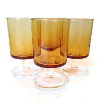 Wine Glasses, Aperitif, Luminarc Cavalier, Amber, Made in France, S/4