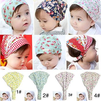 Summer Autumn Baby Hat Girl Boy Cap Children Hats Toddler Kids Hat Scarf
