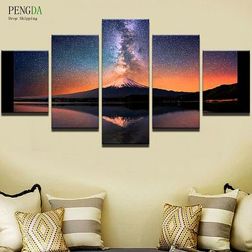 PENGDA Wall Pictures 5 Panel Landscape Canvas Wall Art Canvas Painting For Living Room HD Print Modern Frames For Paintings