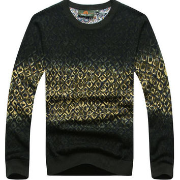 High Quality Shirt Cashmere Wool Pullover O-Neck