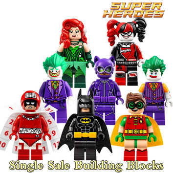 Building Blocks Joker Poison Ivy Batman Robin Calendar of people Harley Quinn Catwoman diy figures Kids DIY Educational Toys