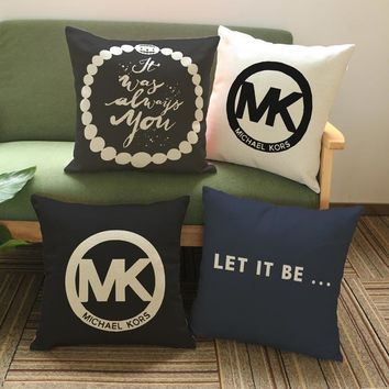 High Quality Cotton Linen Throw Pillow Cases for Sofa