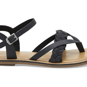 BLACK LEATHER WOMEN'S LEXIE SANDALS