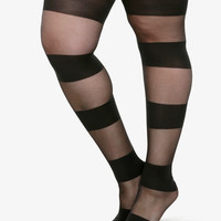 Sheer Striped Tights