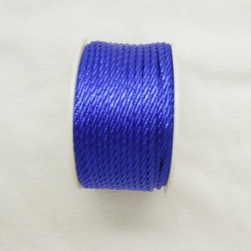 Free shipping 10mtrs/Lot Vintage Royal 3mm Nylon Braide Persian Cord Macrame&Craft Yarn