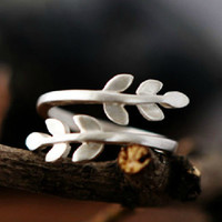 Handmade Silver Olive Twig Wrap Ring, Handmade 925 Silver Ring, Handmade Sterling Silver Jewelry, Personalized Sterling Silver Ring