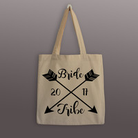 Bridesmaid Tote Bag - Bride Tribe - Cotton Tote