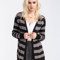 Volcom Clear Night Womens Cardigan Charcoal  In Sizes