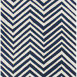 Chevron Area Rug in Navy Blue design by NuLoom