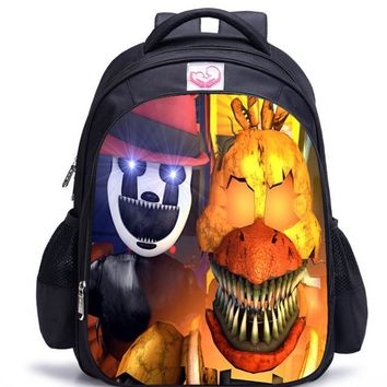 16 Inch Children  At Print Backpacks For Teenage Girls School Bags Orthopedic Cartoon Backpack For Kids Boys