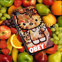 obey hello kitty - for iPhone 4/4s, iPhone 5/5s/5c, Samsung S3 i9300, Samsung S4 i9500 Hard Case Plastic
