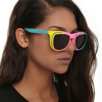 Rainbow Ombre Flip Retro Sunglasses