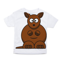 Funny lovely kangaroo Toddler All Over Print Tee> Funny t shirts for baby> Funny T-shirts Online